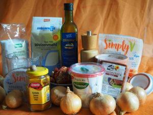 Vegisto's veganer Flammkuchen: Zutaten