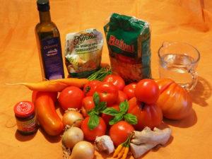 Vegisto's vegane Tomatensuppe: Zutaten