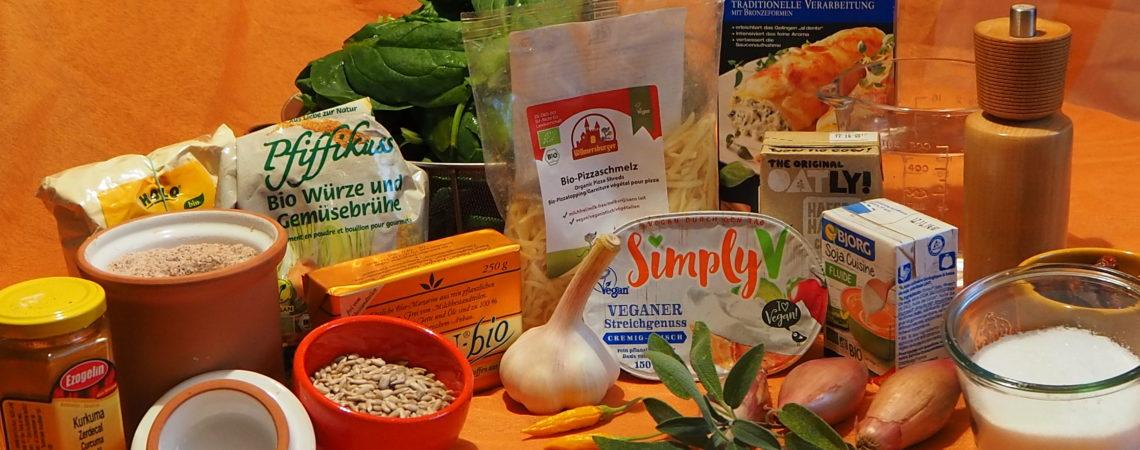 Zutaten: Vegisto's vegane Cannelloni mit Spinat