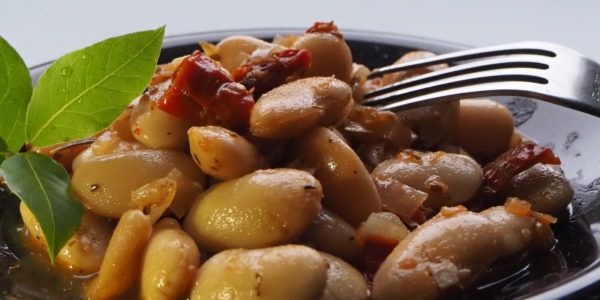 Italienisches weiße Bohnen-Antipasti
