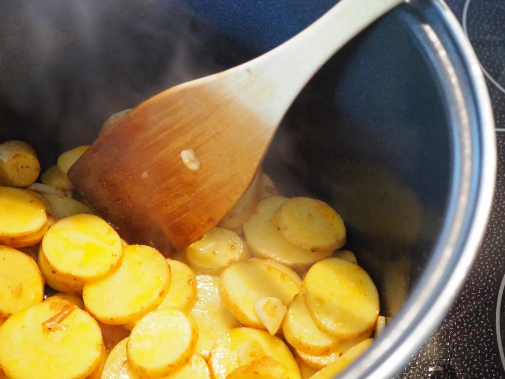 735 Vegisto Peperonata Topf mit Kartoffeln